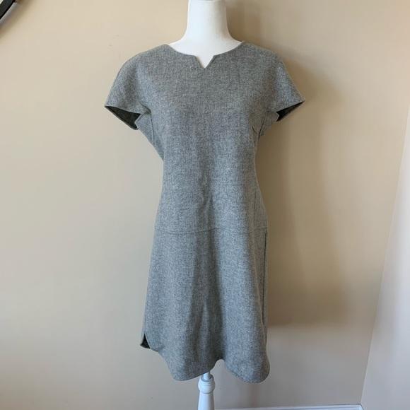 MaxMara Dresses & Skirts - Maxmara Weekend gray notch neck wool dress #1714